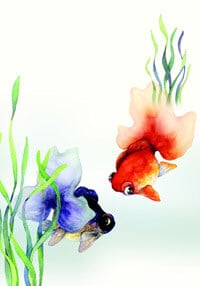 Aquarelle poissons rouges