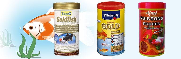 Nourriture poisson rouge flocons granules